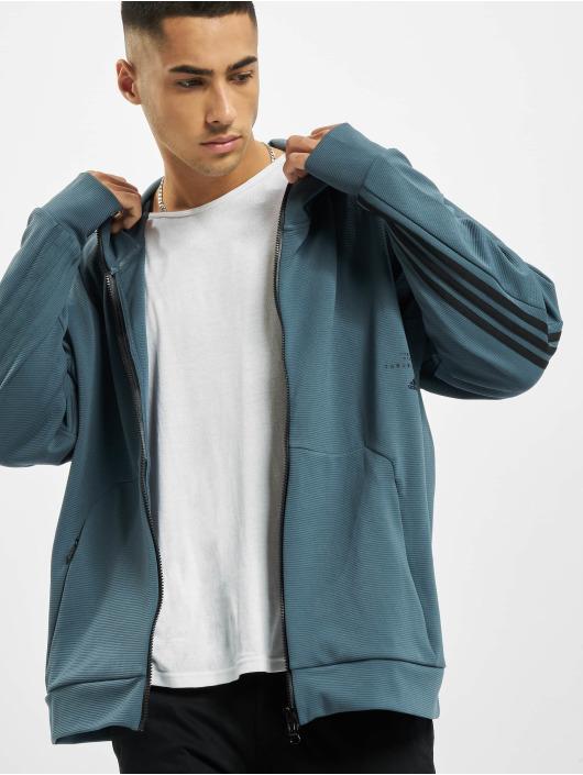 adidas Originals Sweat capuche zippé MHS Aero bleu