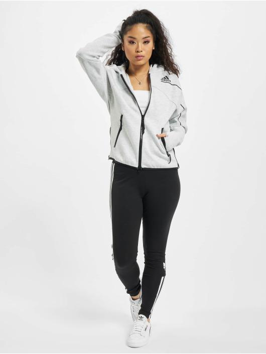 adidas Originals Sweat capuche zippé ZNE gris