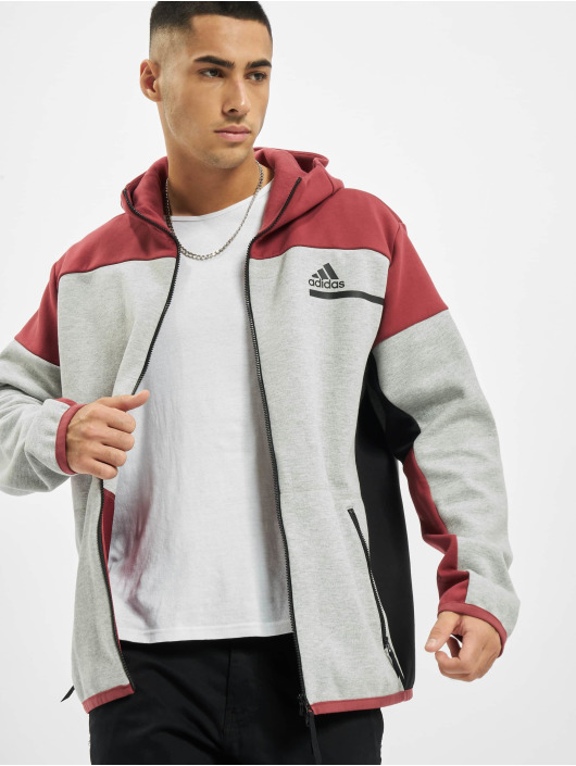 adidas Originals Sweat capuche zippé ZNE gris