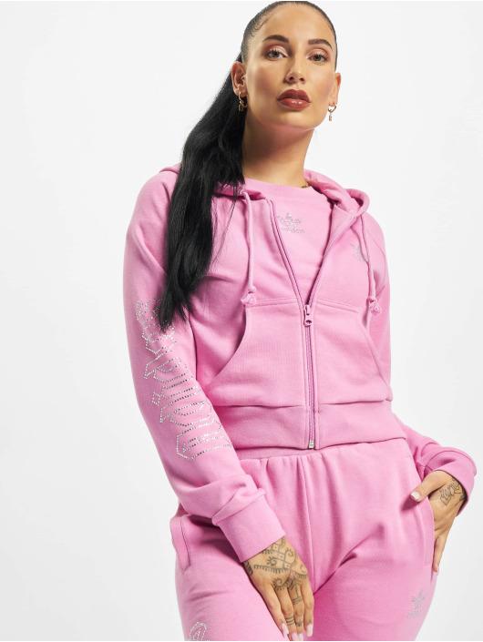 adidas Originals Sweat capuche zippé Cropped magenta