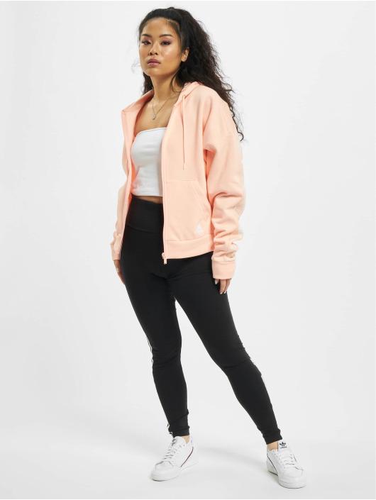 adidas Originals Sweat capuche zippé W Bos Aop rose