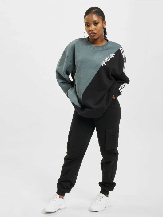 adidas Originals Swetry Sliced Trefoil niebieski