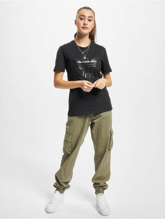 adidas Originals T-paidat Trefoil 21 musta