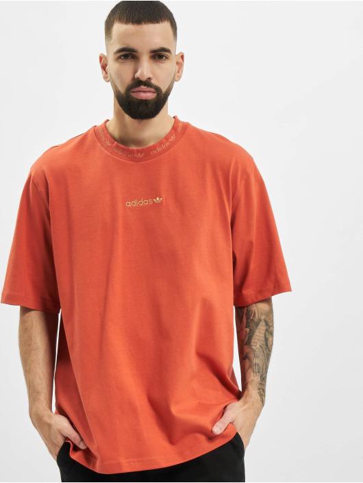 adidas Originals T-shirt Rib Detail apelsin