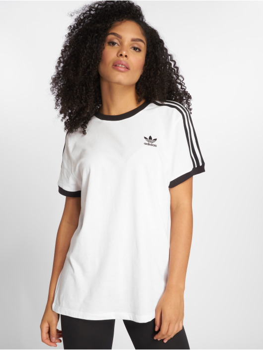 adidas originals T-shirt 3 Stripes bianco