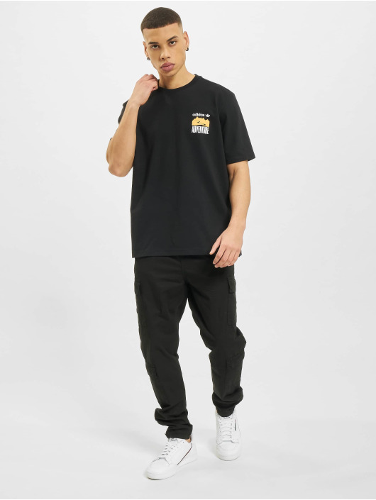 adidas Originals T-Shirt Adventure Mountain Back black