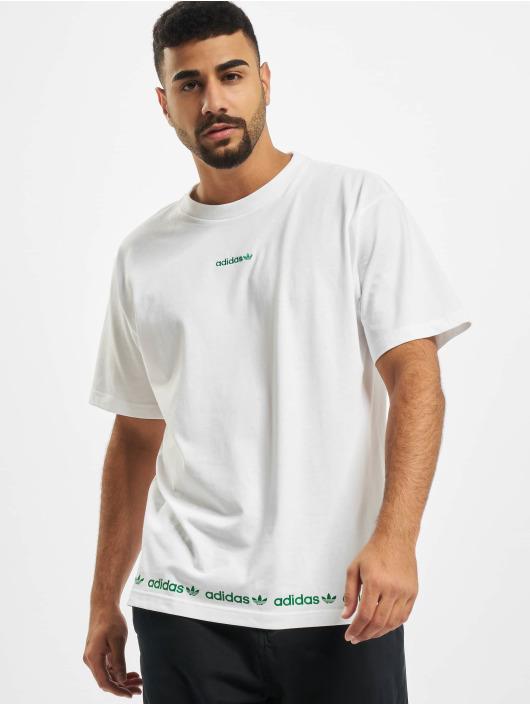 adidas Originals T-Shirt Linear Repeat blanc