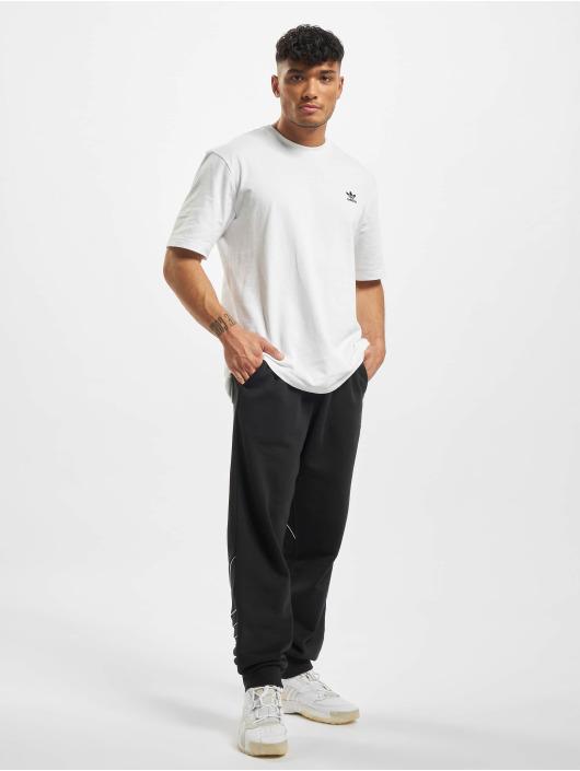 adidas Originals T-Shirt Back and Front Print Trefoil blanc