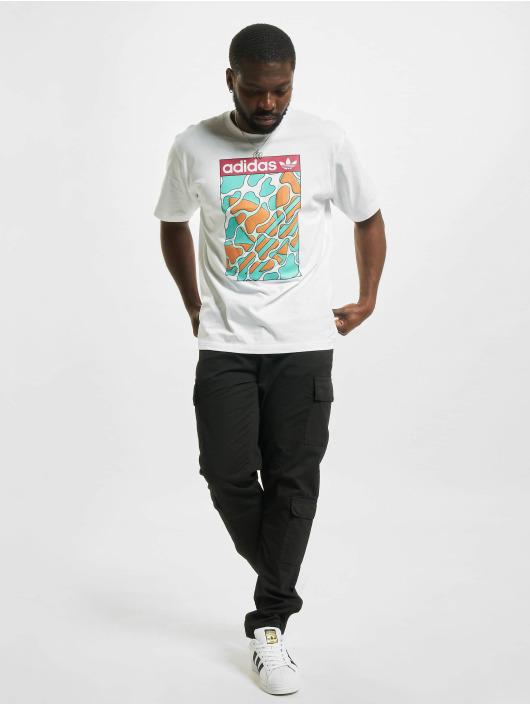 adidas Originals T-Shirt Summer Tongue Label blanc