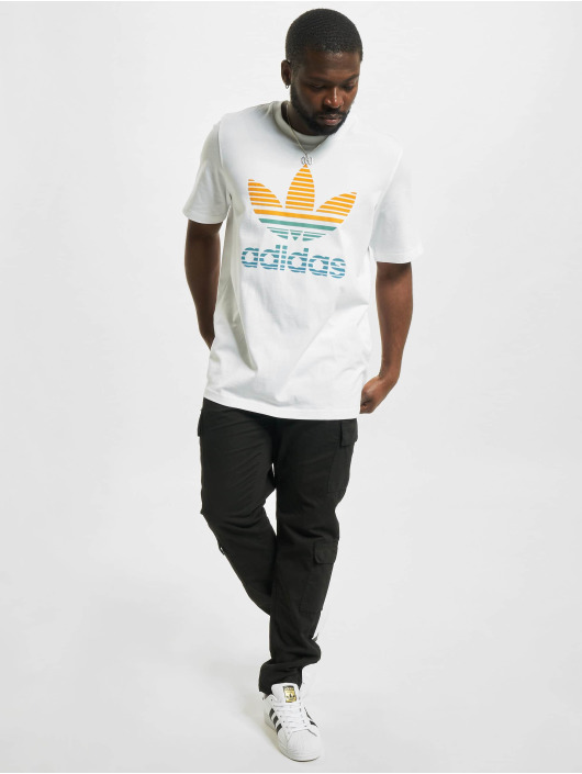 adidas Originals T-Shirt Trefoil Ombre blanc