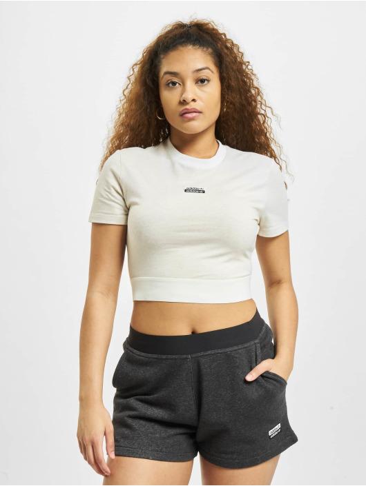 adidas Originals T-Shirt Cropped blanc