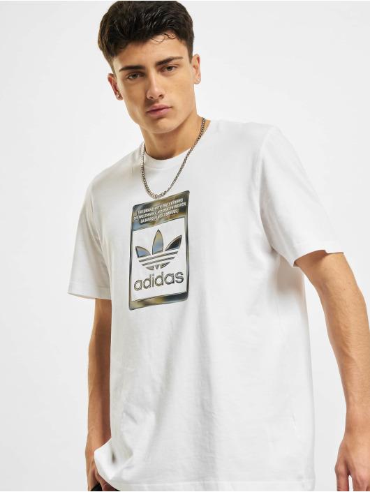 adidas Originals T-Shirt Camo Infill blanc