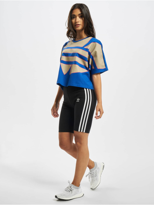 adidas Originals T-Shirt Big Trefoil blau