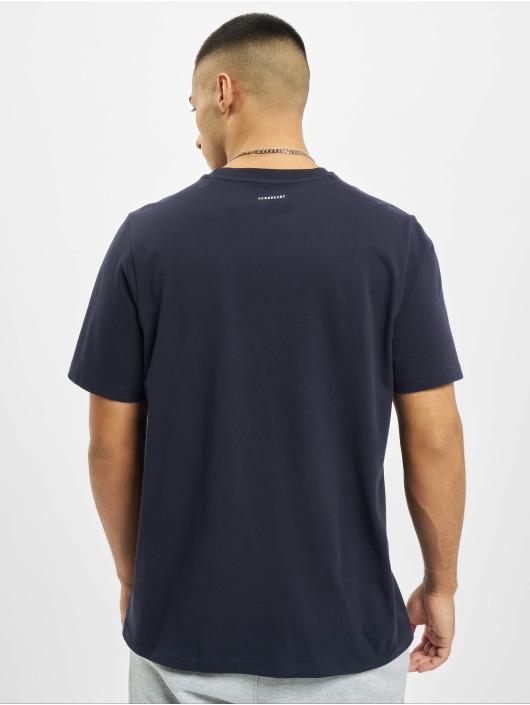 adidas Originals T-Shirt Color Silvern Logo blau