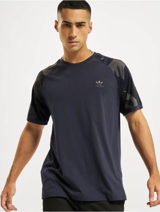 adidas Originals T-Shirt Camo Cali blau
