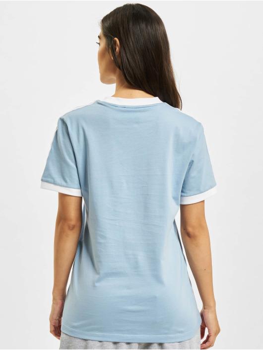 adidas Originals T-Shirt 3 Stripes blau
