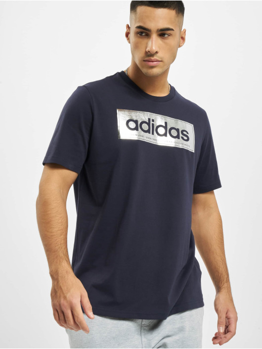 adidas Originals t-shirt Color Silvern Logo blauw
