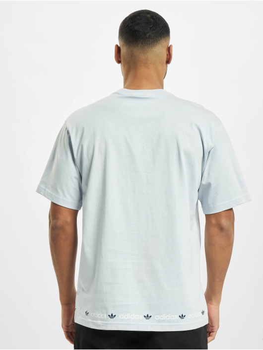 adidas Originals t-shirt Linear Repeat blauw