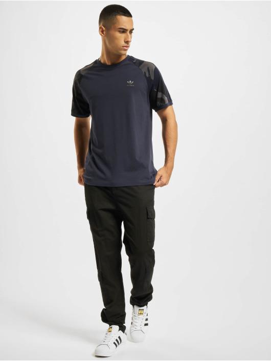adidas Originals t-shirt Camo Cali blauw