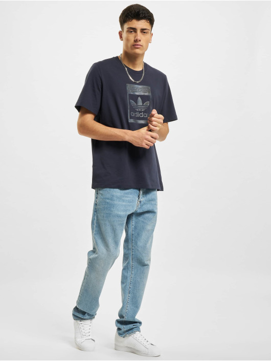 adidas Originals t-shirt Camo Infill blauw