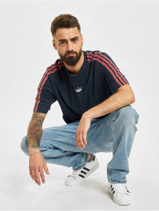 adidas Originals t-shirt 3 Stripe blauw