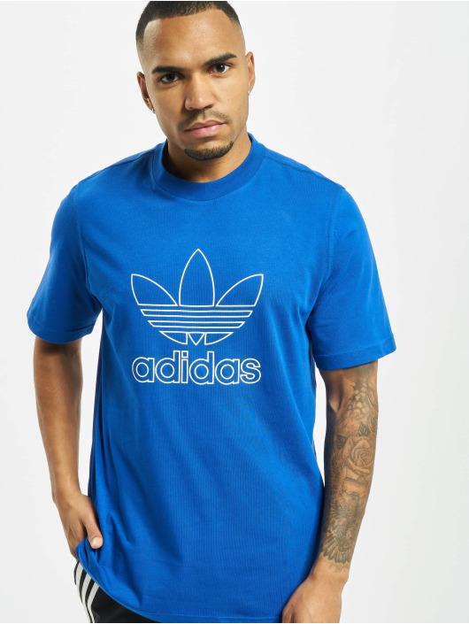 adidas Originals T-Shirt Outline Trefoil Logo bleu