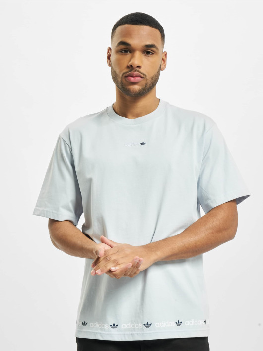 adidas Originals T-Shirt Linear Repeat bleu