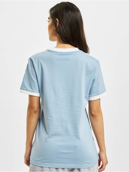 adidas Originals T-Shirt 3 Stripes bleu