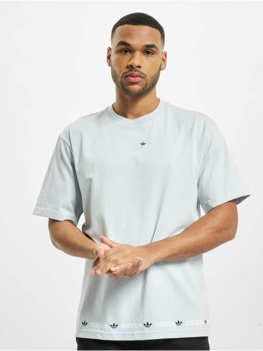 adidas Originals T-shirt Linear Repeat blu