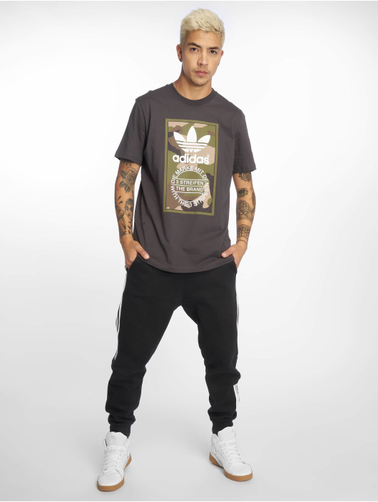 adidas originals T-Shirt Camo grau