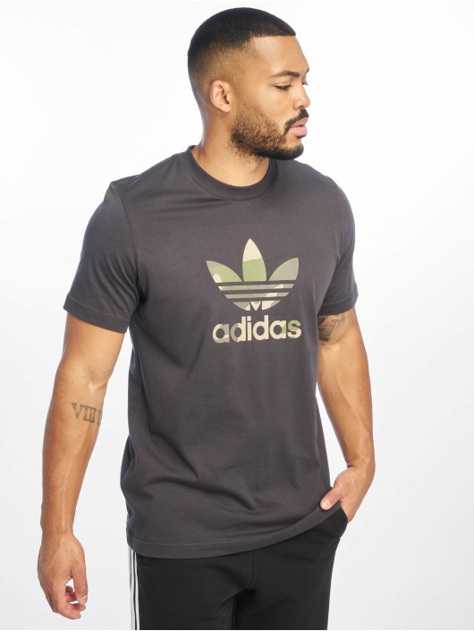 adidas originals t-shirt Camo Infill grijs