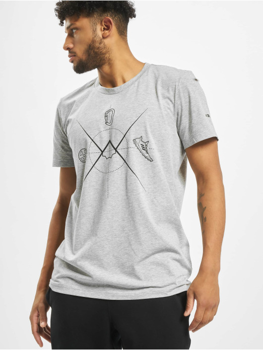 Adidas Ascend T Shirt Medium Grey Heather