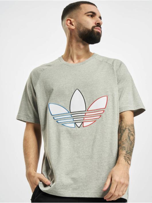 adidas Originals T-Shirt Tricolor gris