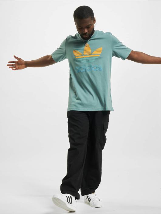 adidas Originals T-Shirt Trefoil Ombre grün