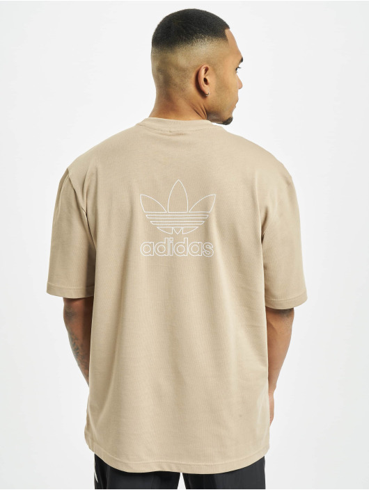 adidas Originals T-Shirt Back And Front Print Trefoil kaki