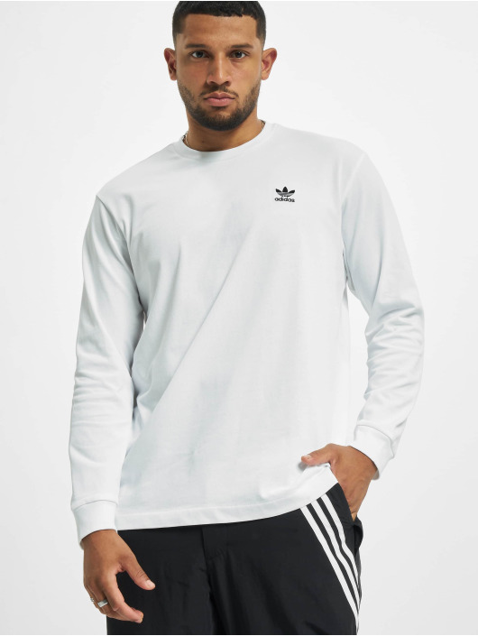 adidas Originals T-Shirt manches longues Back And Front Print Trefoill blanc