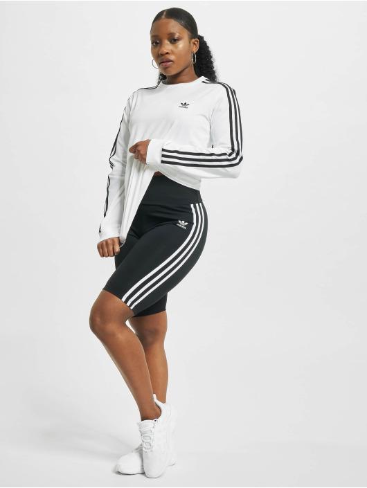 adidas Originals T-Shirt manches longues 3-Stripes blanc