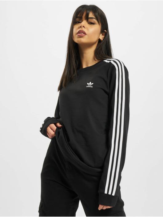 adidas Originals T-Shirt manches longues 3 Stripe noir