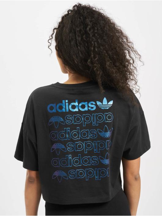 adidas Originals LRG Logo T Shirt BlackTeam Royal Blue