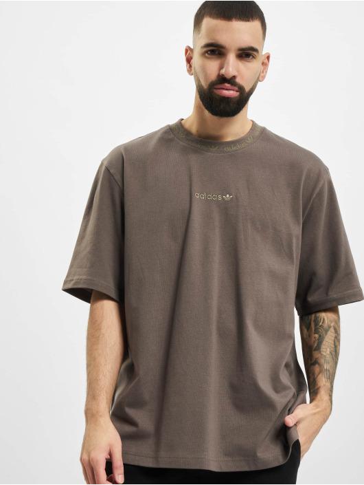 adidas Originals T-shirt Rib Detail oliv