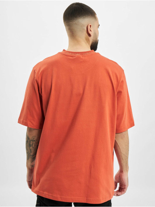 adidas Originals t-shirt Rib Detail oranje