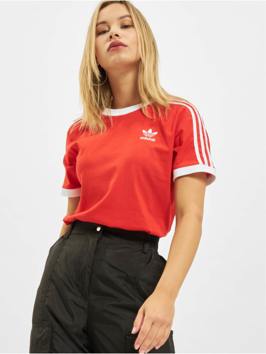 adidas Originals t-shirt 3 Stripes rood