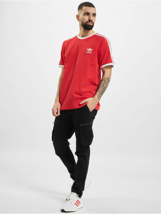 adidas Originals T-Shirt 3-Stripes rouge