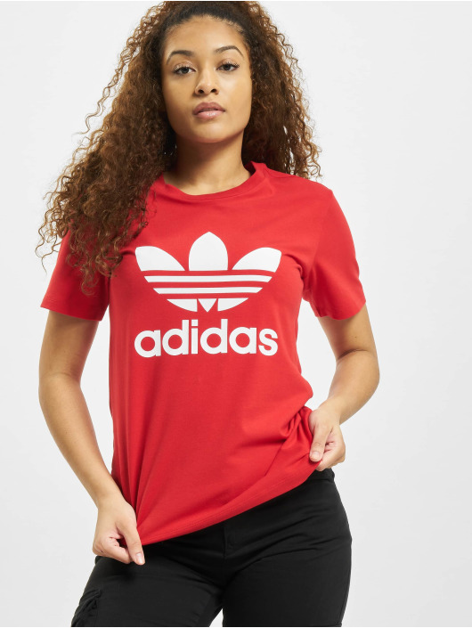 adidas Originals T-Shirt Trefoil rouge