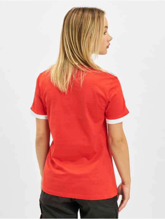 adidas Originals T-Shirt 3 Stripes rouge