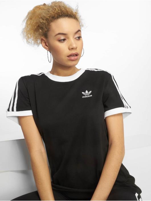 adidas originals Damen T-Shirt originals 3 Stripes in schwarz 582440 7e35d274f9