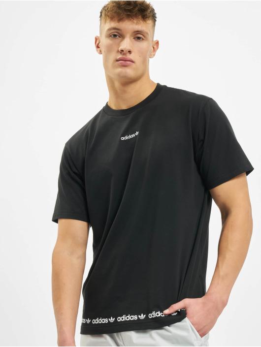 adidas Originals T-Shirt Linear Repeat schwarz