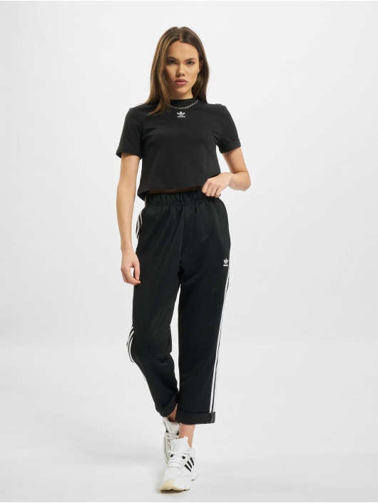 adidas Originals T-Shirt Crop schwarz