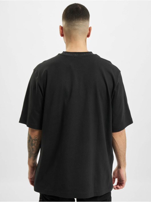 adidas Originals T-Shirt Rib Detail schwarz