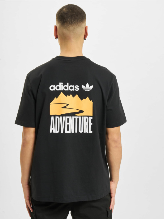 adidas Originals T-Shirt Adventure Mountain Back schwarz